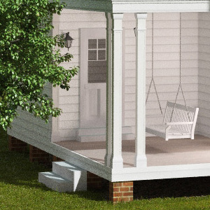 the notebook house side porch
